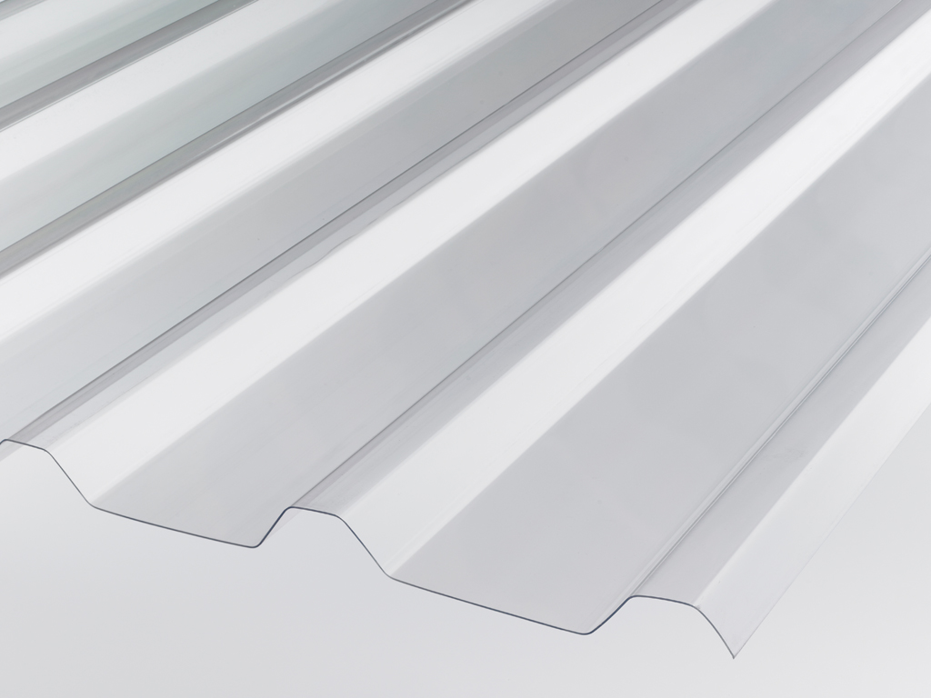 QUALEX Trapezwellplatte, glasklar